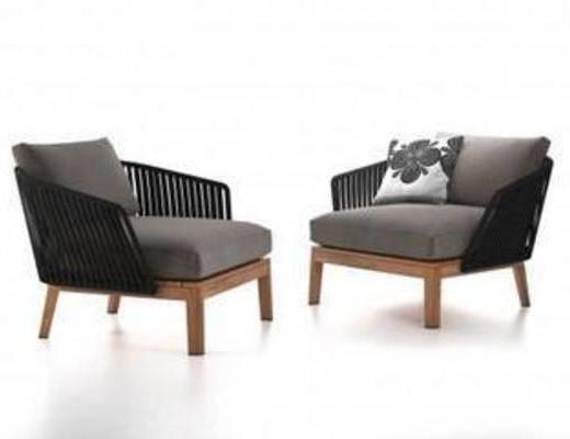 现代简约, 单人沙发, 沙发, 椅子