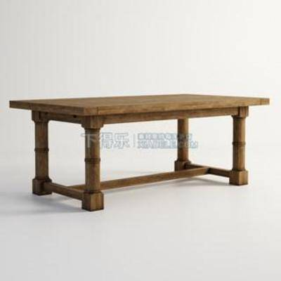 美式餐桌, 餐桌, 折叠餐桌, 复古餐桌, 实木餐桌