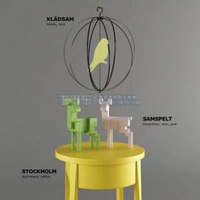 创意桌, 儿童玩具, 小鹿摆件, 绿色小鹿