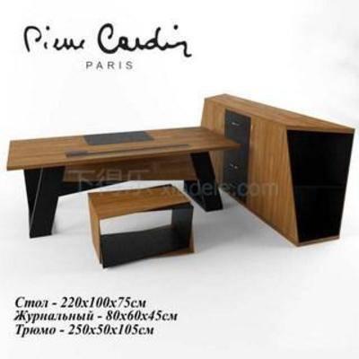 澳门威尼斯人游戏平台, 3dmax模型, 现代简约, 现代办公桌, 简约办公桌, 办公桌, 实木办公桌