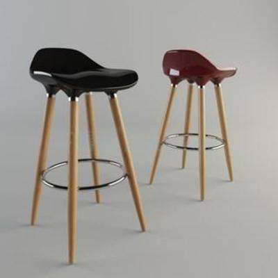 塑料板凳, 实木凳, 高脚凳, 现代简约, 欧式风格, 吧椅
