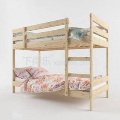 梯子床, 乡村, 实木, 上下铺, 美式