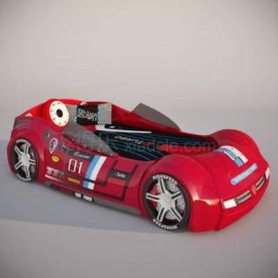 汽车床, 跑车床, 汽车模型, 跑车模型, 男孩单人床, 儿童床