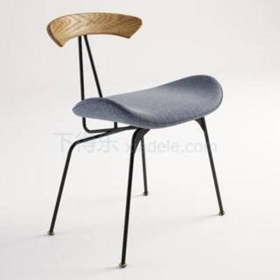 铁木结合, 铁木椅, 餐椅, 现代椅子, 工业风, 休闲椅