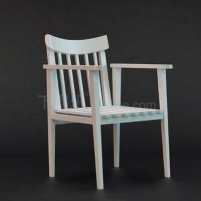 地中海田园, 实木扶手, 板式椅, 现代椅子, 休闲椅, 欧式风格