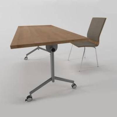 现代简约, 书桌, 办公桌, 实木桌