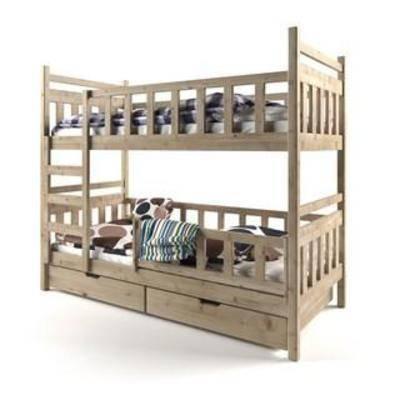 护栏, 欧式简约, 实木床, 收纳, 床具, 双层床