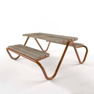 连体桌, 户外桌, 实木桌, 北欧简约, 桌椅组合