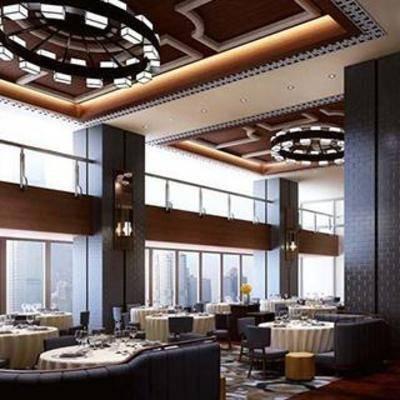 现代吊灯餐具, 餐桌椅子, 地毯, 布艺沙发, 布艺椅子, 新中式, 餐厅设计, 新古典, 餐桌, 餐桌椅组合