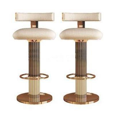 金属构件, 高脚椅, 靠背, 吧椅, 现代椅子, 欧式风格