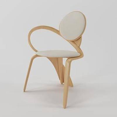 异形椅子, 北欧现代, 坐面, 实木椅, 现代椅子, 现代简约