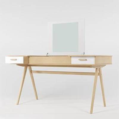 现代简约, 梳妆台, 梳妆镜, 实木化妆桌, 首饰桌
