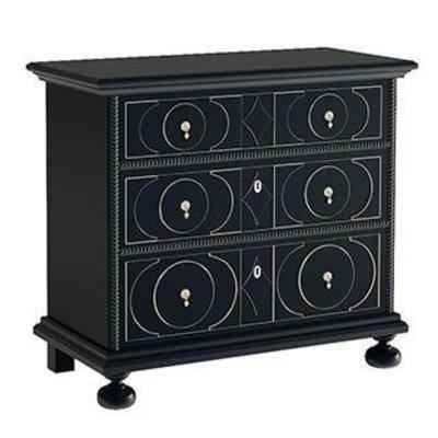 金属固件, 实木边柜, 欧式简约, 柜, 储物柜, 玄关柜, 收纳柜, 装饰柜