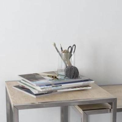 办公用品, 装饰组合, 北欧简约, 玻璃制品, 摆件, 书籍, 陈列品