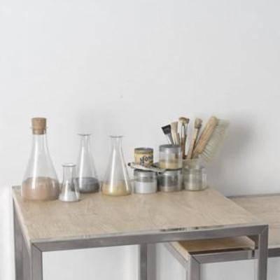 陈设品组合, 装饰组合, 北欧简约, 玻璃制品, 器皿, 摆件, 工艺品