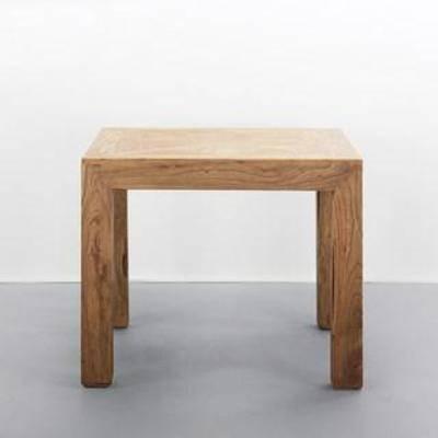方形茶几, 现代简约, 木桌, 实木茶几