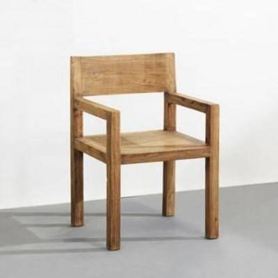 板式椅, 单人椅, 餐桌椅, 现代椅子, 美式风格