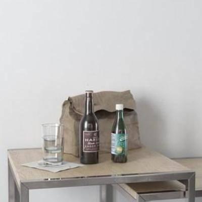装饰组合, 北欧简约, 玻璃制品, 玻璃瓶, 摆件, 玻璃杯, 陈列品