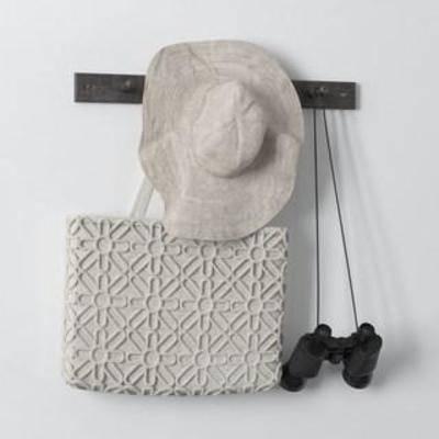 手提袋, 帽子, 挂钩, 望远镜, 装饰组合, 北欧简约, 装饰品