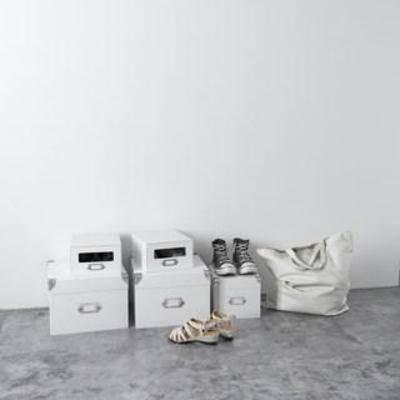 陈设品组合, 鞋盒, 鞋子, 装饰组合, 北欧简约, 摆件, 服饰