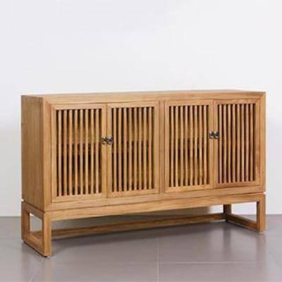 中式, 古典, 实木, 边柜