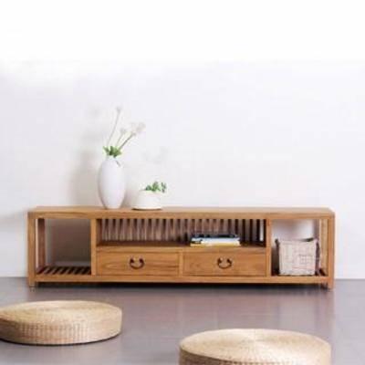 实木柜, 坐垫, 摆件, 边柜, 装饰品, 电视柜, 中式
