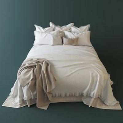 双人床, 卧室家具, 床具, 欧式风格, 欧式简约