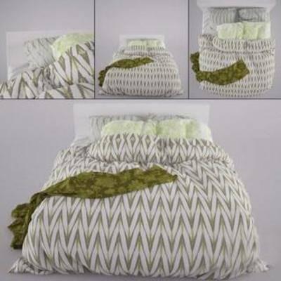 布艺床具, 田园风, 双人床, 卧室家具, 现代简约