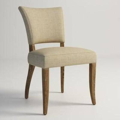 布艺椅, 靠背, 田园风, 软包, 餐椅, 现代椅子, 美式风格