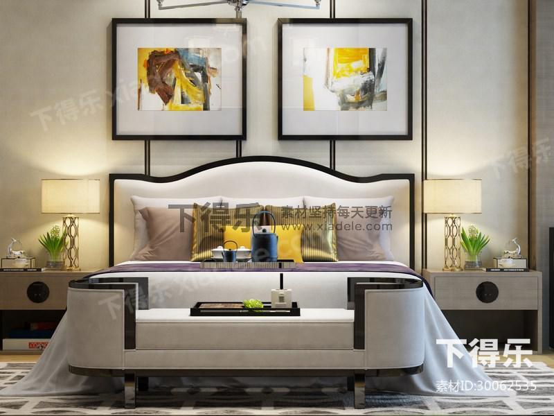 新古典床具组合,新古典