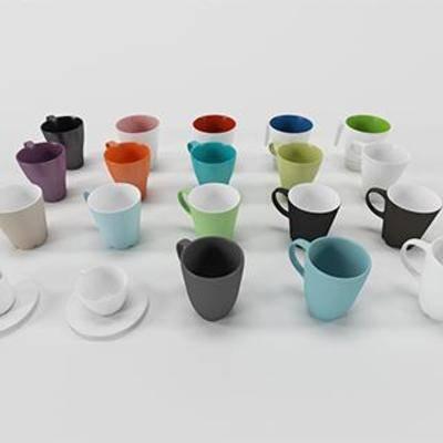 水杯, 器皿, 餐具, 茶具, 现代风格