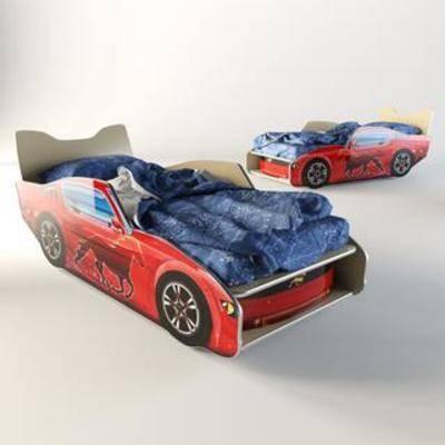 布艺床具, 跑车床, 单人床, 创意床, 儿童床, 现代风格