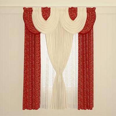 现代窗帘, 双层窗帘, 布艺窗帘, 现代风格, 窗帘, 欧式风格