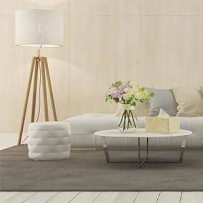 沙发茶几, 沙发凳, 沙发茶几组合, 落地灯, 北欧沙发, 茶几, 植物装饰品, 北欧, 下得乐3888套模型合辑