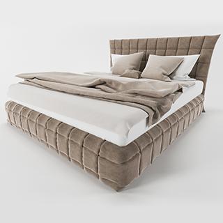 欧式简约风格布艺双人床