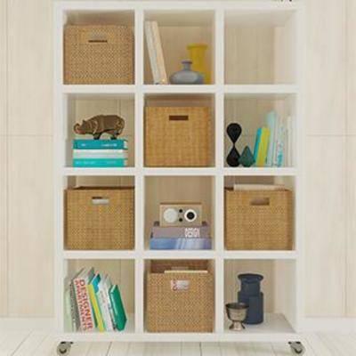 实木架, 柜, 摆件, 现代风格, 书柜, 置物架, 陈列品
