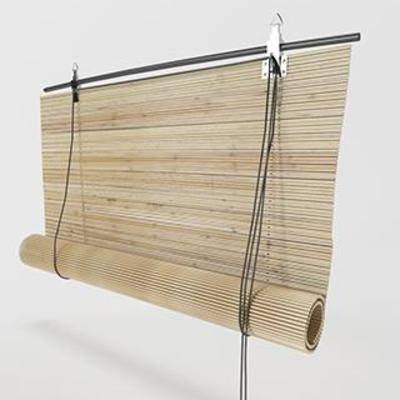 现代窗帘, 竹编窗帘, 窗帘, 中式风格
