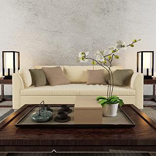 新中式风格 沙发 茶几组合