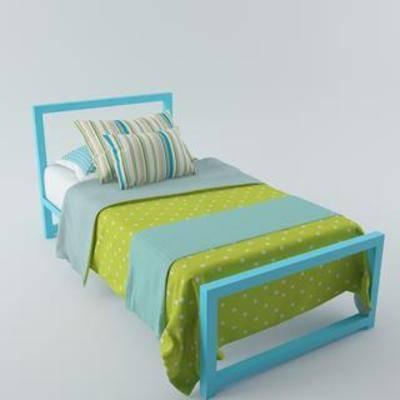 布艺床具, 双人床, 儿童床, 现代简约