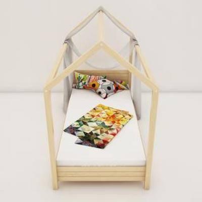 实木床, 单人床, 儿童床, 现代简约