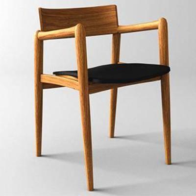 靠背椅, 实木椅, 单人椅, 现代椅子, 现代简约, 休闲椅