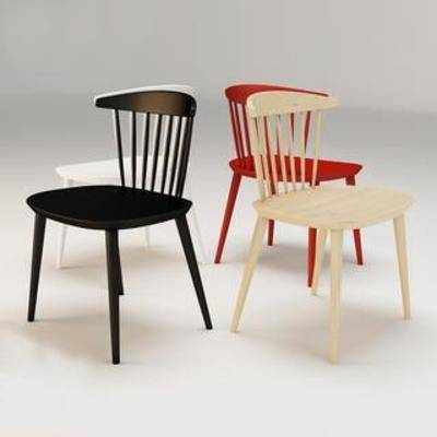 实木椅, 单人椅, 餐桌椅, 现代椅子, 现代简约, 休闲椅