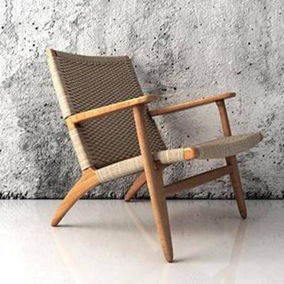 布艺椅, 实木椅, 单人椅, 现代椅子, 现代简约, 休闲椅