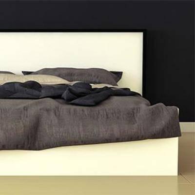 北欧实木床, 北欧双人床, 实木双人床