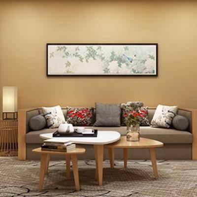 沙发茶几, 日式茶几组合, 日式沙发组合, 日式