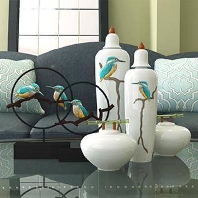 陈设品组合, 装饰品组合, 陶瓷装饰品, 摆件, 装饰品, 陈列品