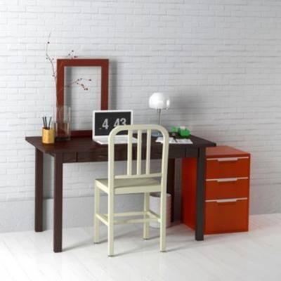 桌椅组合, 现代书桌, 现代桌椅, 书桌椅组合, 现代书桌椅组合, 国外模型, 现代