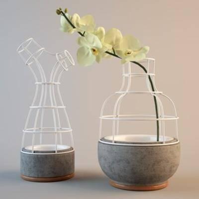 工业风花瓶, 铁艺花瓶, 装饰品, 陈列品
