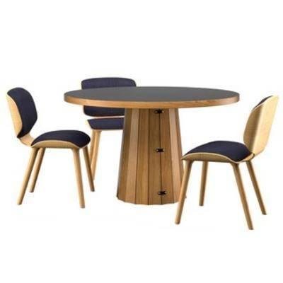 桌椅组合, 现代桌椅, 现代桌椅组合, 实木桌椅, 实木桌椅组合, 国外模型, 现代, 下得乐3888套模型合辑