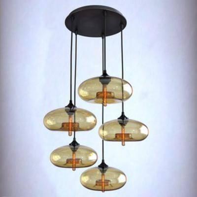 现代吊灯, 灯具, 玻璃吊灯